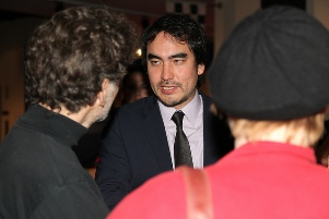 Tim Wu at the reception.