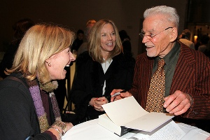 Don Bachardy signs copies of The Sixties: Diaries at the reception