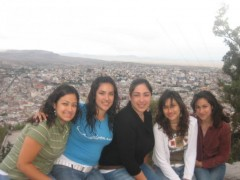 The Sánchez girls (Christina at far right) in Zacatecas.